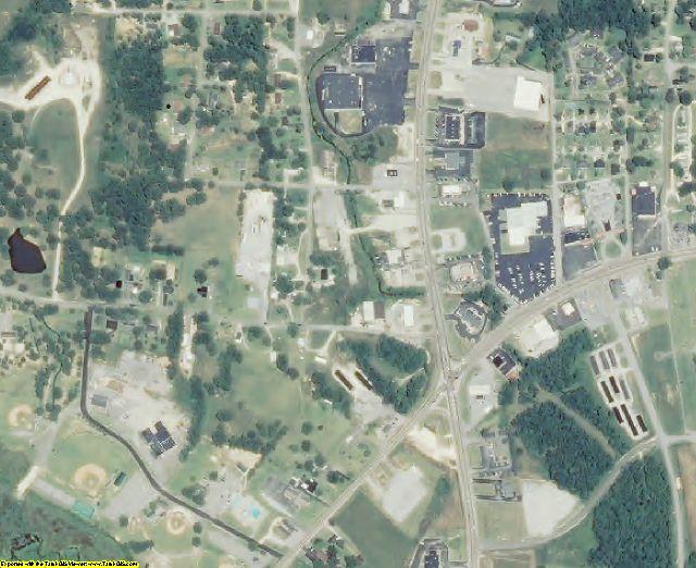 Benton County, TN aerial photography detail