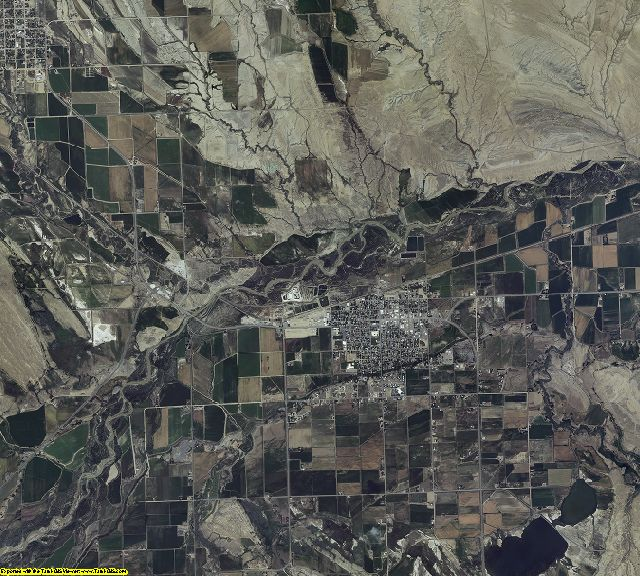Big Horn County, Wyoming aerial photography