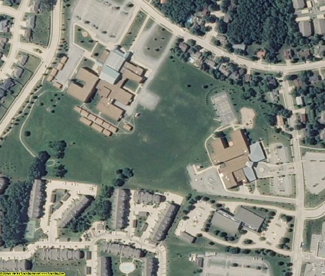 Boone County, MO aerial photography detail
