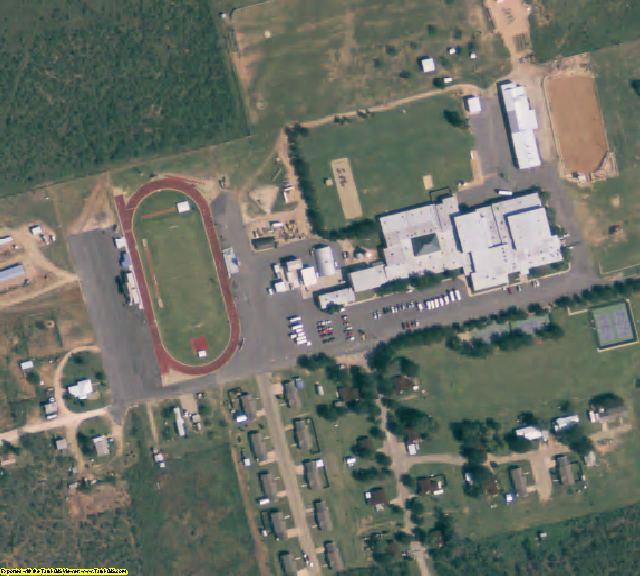 Borden County, TX aerial photography detail