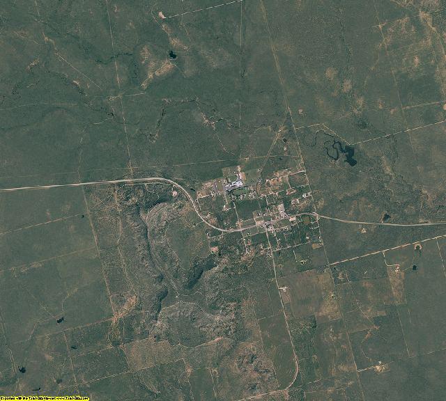 Borden County, Texas aerial photography