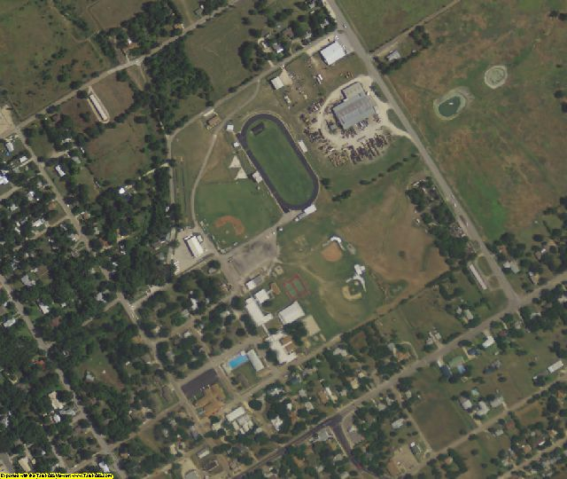 Bosque County, TX aerial photography detail