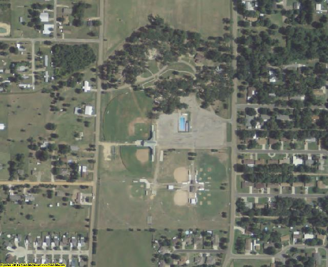 Bowie County, TX aerial photography detail