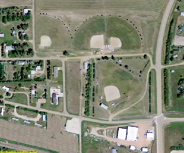Bowman County, ND aerial photography detail