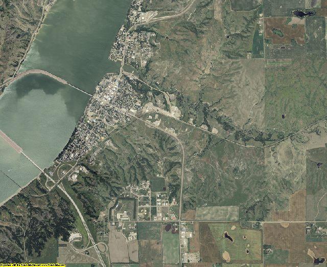 Brule County, South Dakota aerial photography