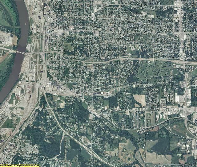 Buchanan County, Missouri aerial photography