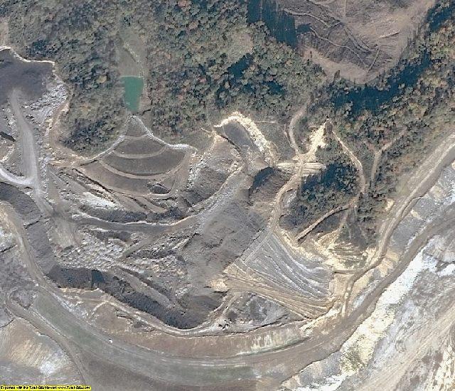 Buchanan County, VA aerial photography detail
