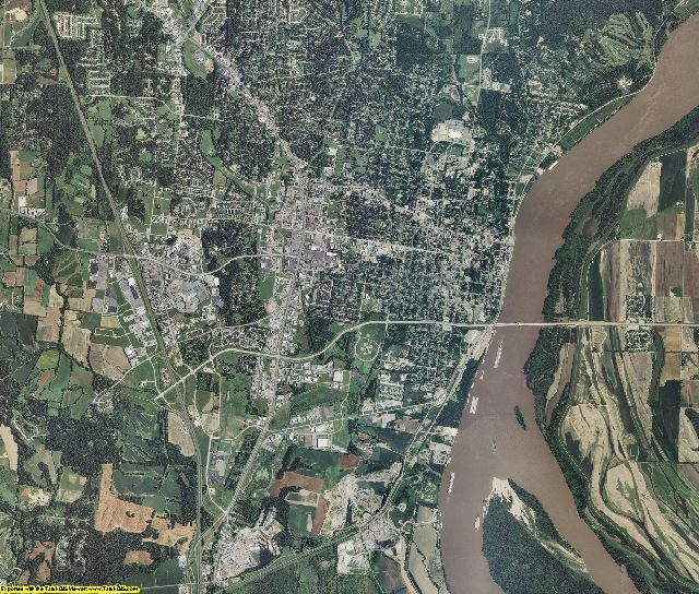 Cape Girardeau County, Missouri aerial photography