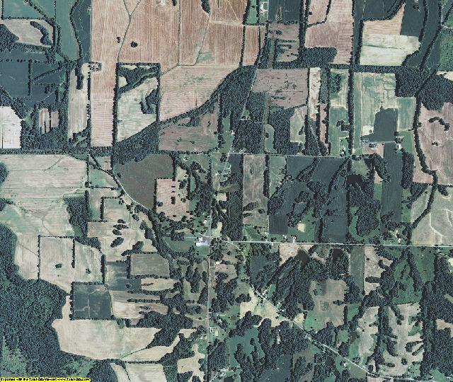 Carlisle County, Kentucky aerial photography