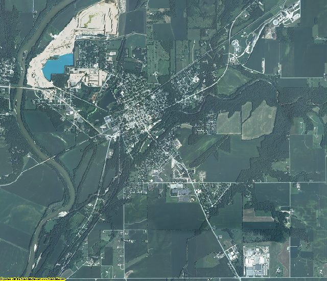 Carroll County, Indiana aerial photography