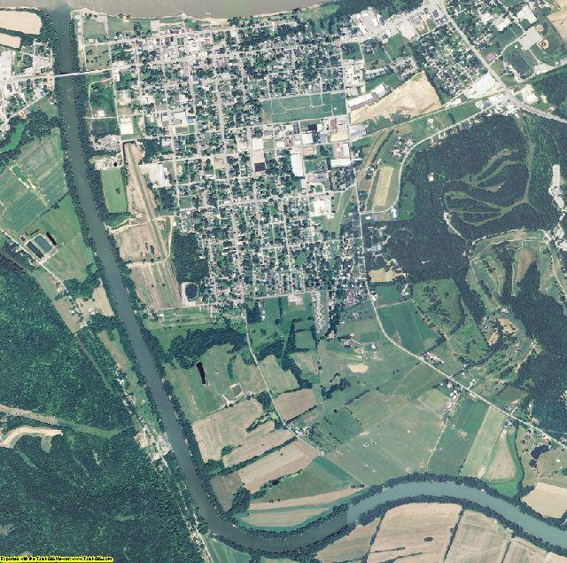 Carroll County, Kentucky aerial photography