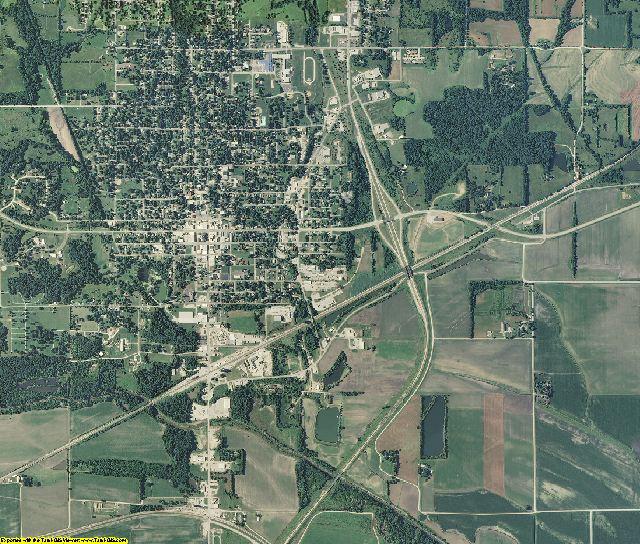Carroll County, Missouri aerial photography