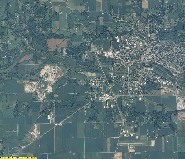 Cass County, Indiana aerial photography