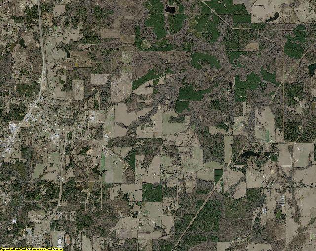 Cass County, Texas aerial photography
