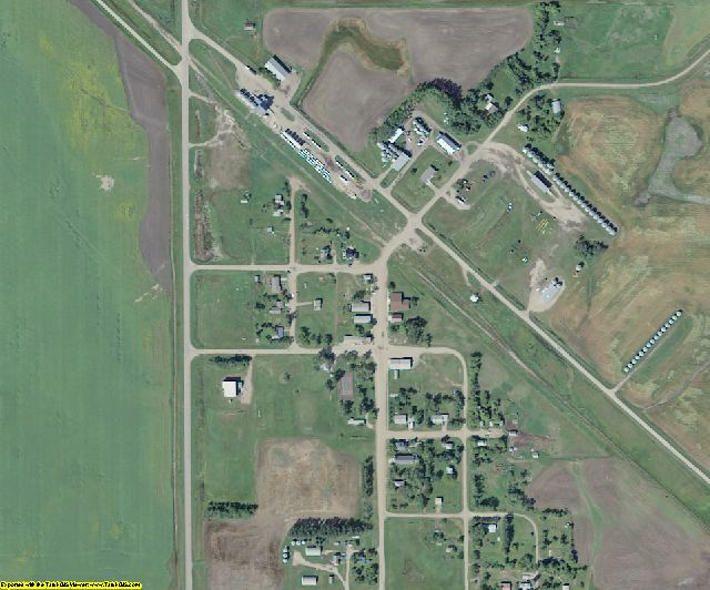 Cavalier County, ND aerial photography detail