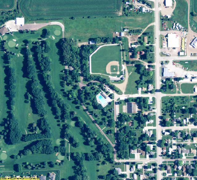 Cedar County, NE aerial photography detail