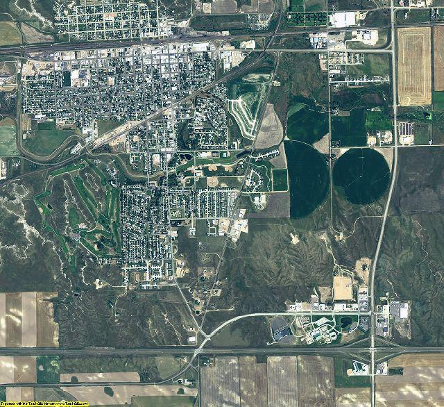 Cheyenne County, Nebraska aerial photography
