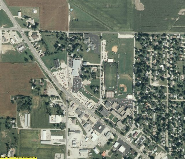 Christian County, IL aerial photography detail