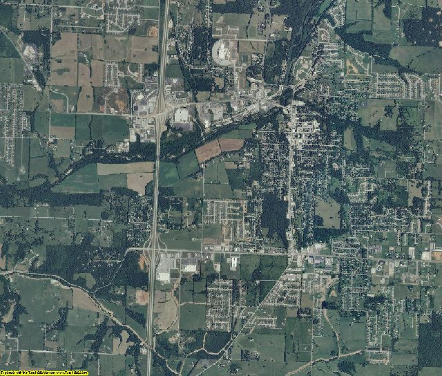 Christian County, Missouri aerial photography