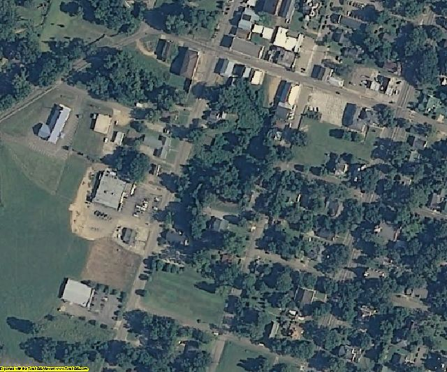 Claiborne County, MS aerial photography detail