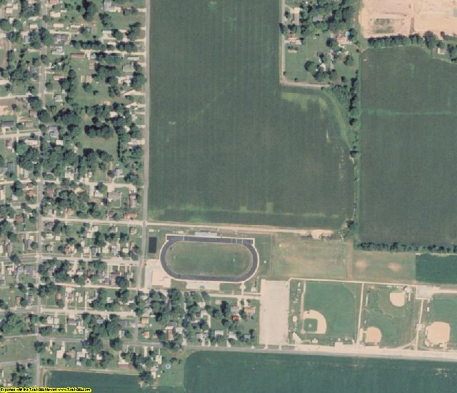 Clay County, IL aerial photography detail