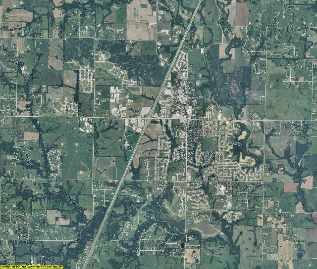 Clay County, Missouri aerial photography