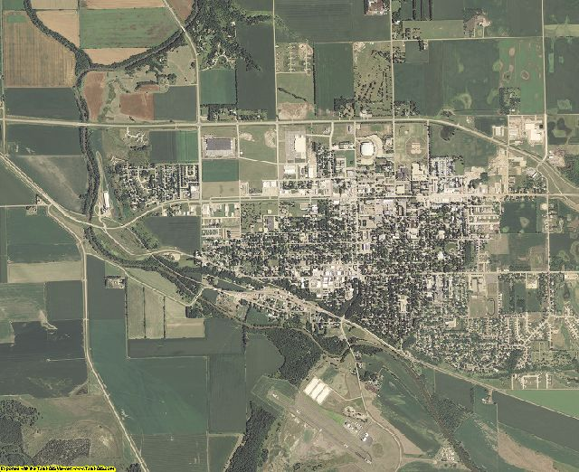Clay County, South Dakota aerial photography