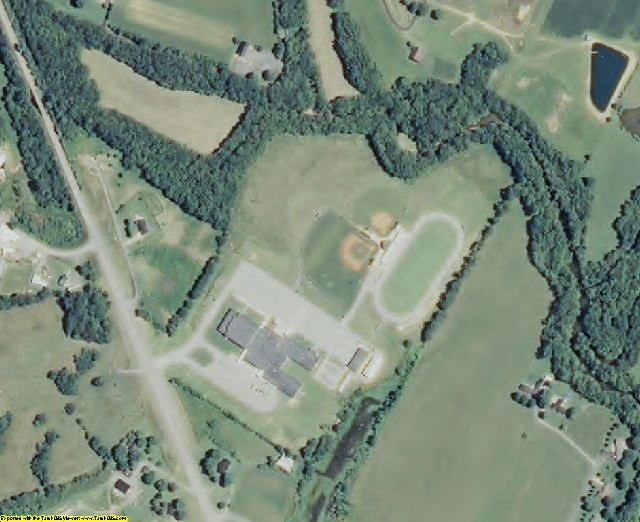 Clay County, TN aerial photography detail
