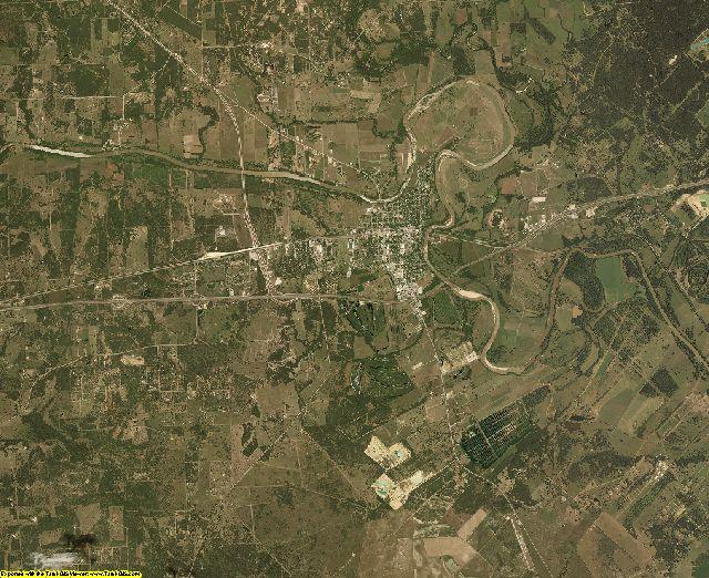 Colorado County, Texas aerial photography