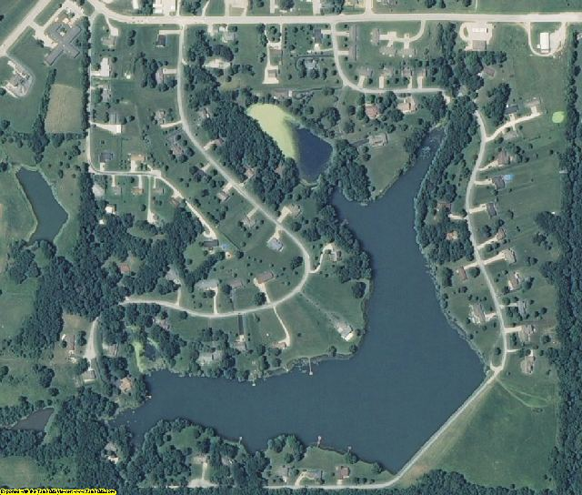 Cooper County, MO aerial photography detail
