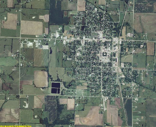 Crawford County, Kansas aerial photography