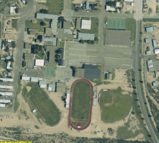 Crockett County, TX aerial photography detail