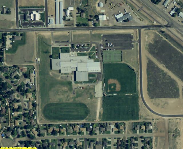 Dallam County, TX aerial photography detail
