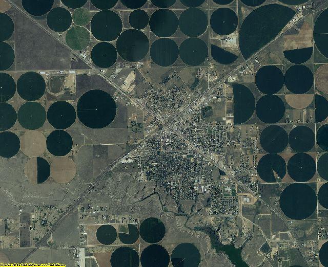 Dallam County, Texas aerial photography