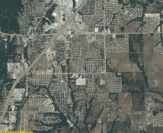 Dallas County, Texas aerial photography