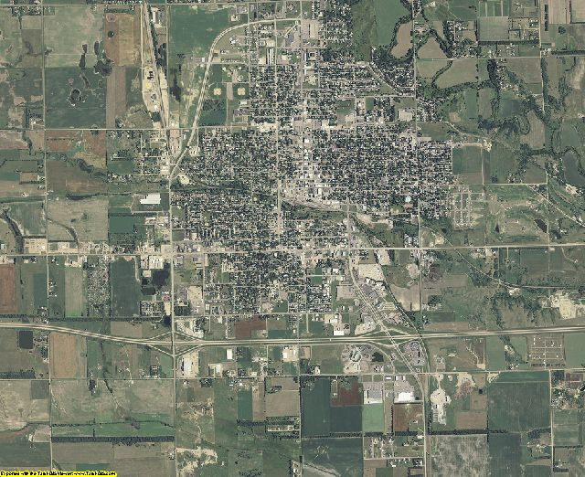 Davison County, South Dakota aerial photography