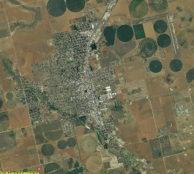 Dawson County, Texas aerial photography