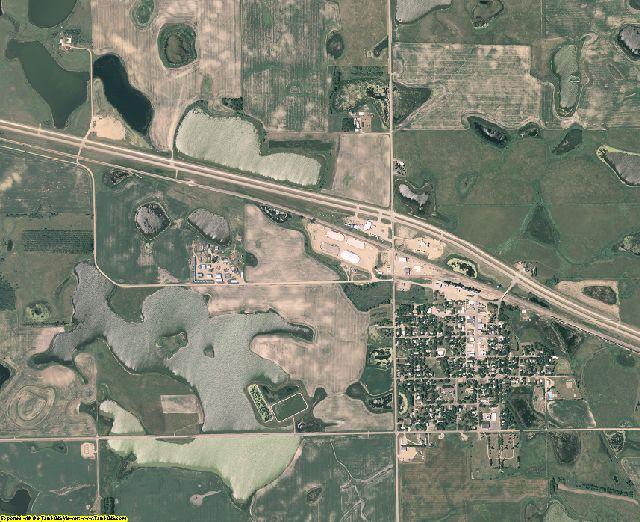 Day County, South Dakota aerial photography