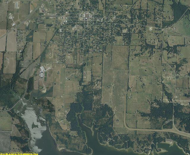 Delta County, Texas aerial photography