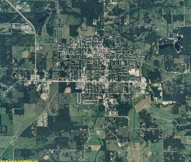 Dent County, Missouri aerial photography