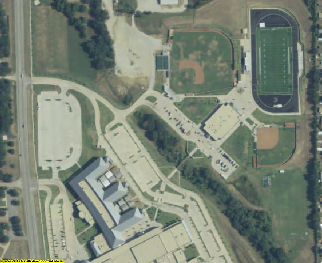 Denton County, TX aerial photography detail