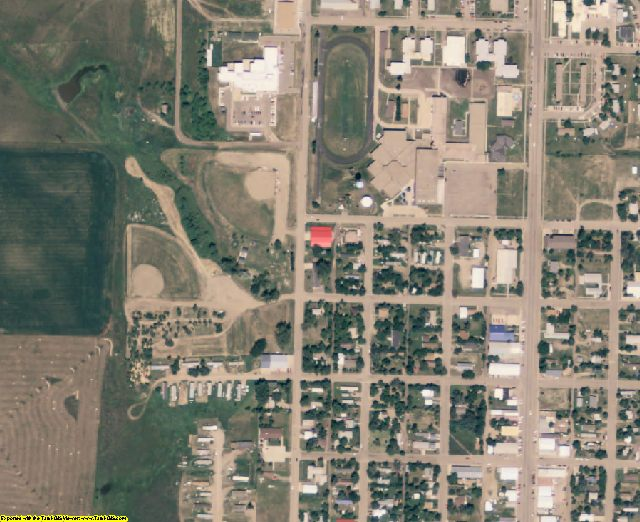 Dewey County, SD aerial photography detail