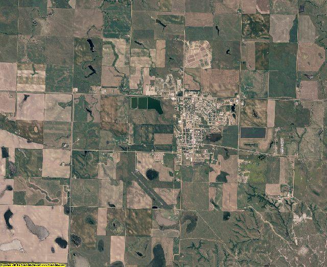 Dewey County, South Dakota aerial photography