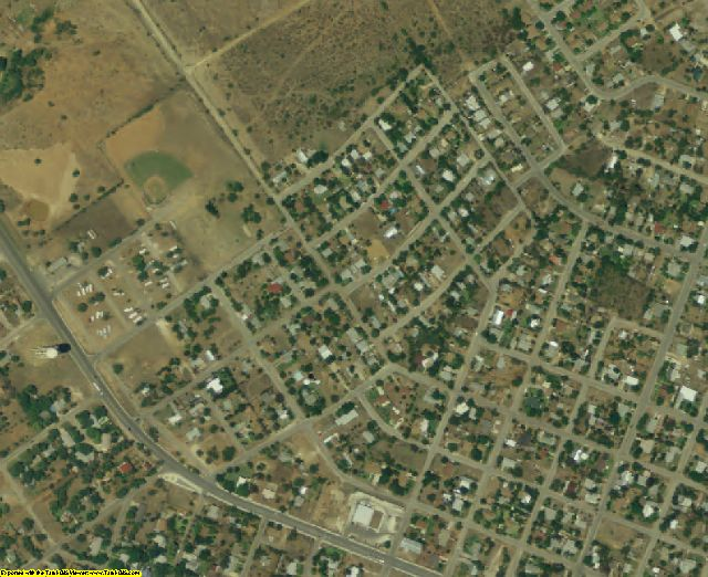 Dimmit County, TX aerial photography detail
