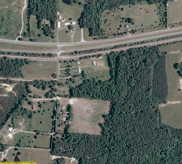 Dinwiddie County, VA aerial photography detail