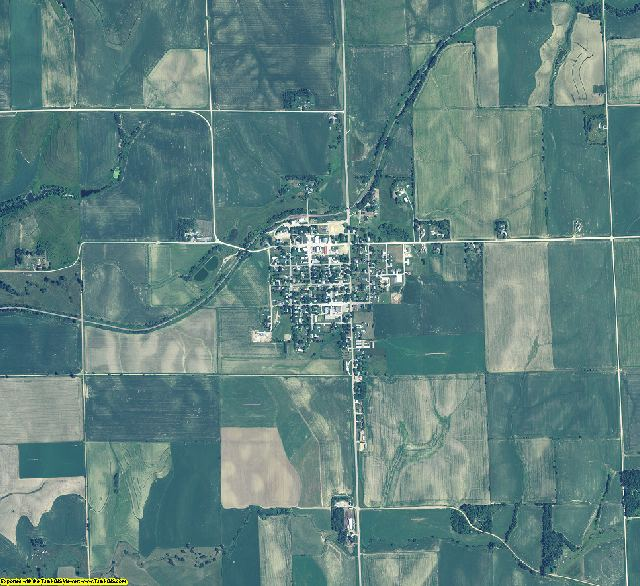 Dixon County, Nebraska aerial photography