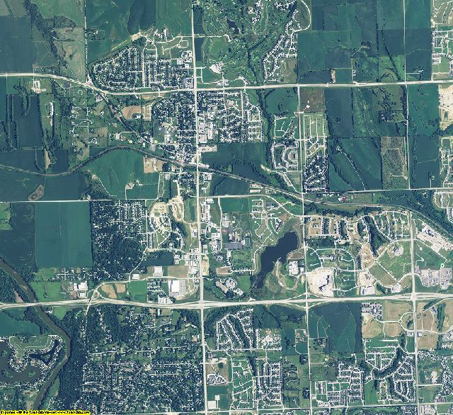 Douglas County, Nebraska aerial photography
