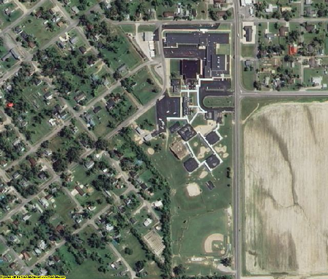 Dunklin County, MO aerial photography detail