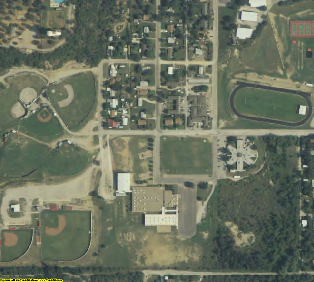Eastland County, TX aerial photography detail