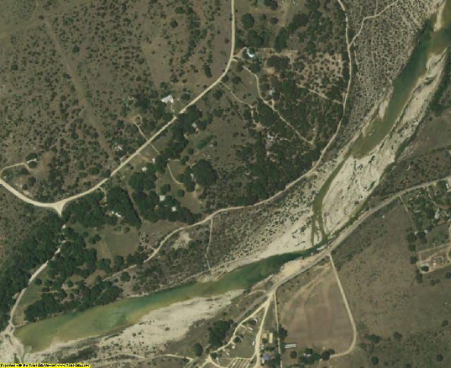 Edwards County, TX aerial photography detail
